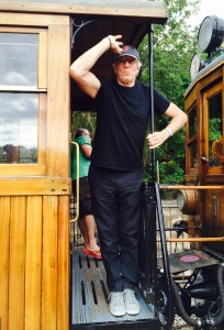 Soller Mallorca Pete on wooden train 2 061014