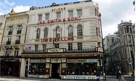 James Smith and Sons Umbrella Shop Pietro Place Peter Jones