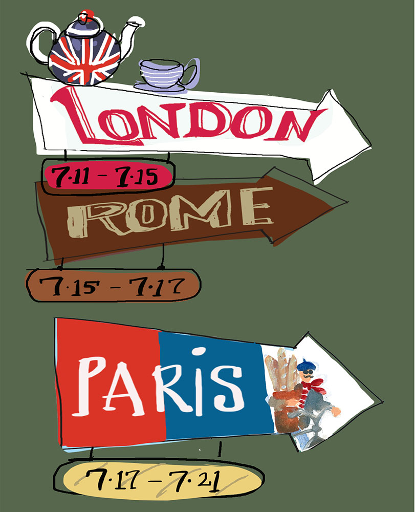 London Rome Paris Pietro Place Peter Jones