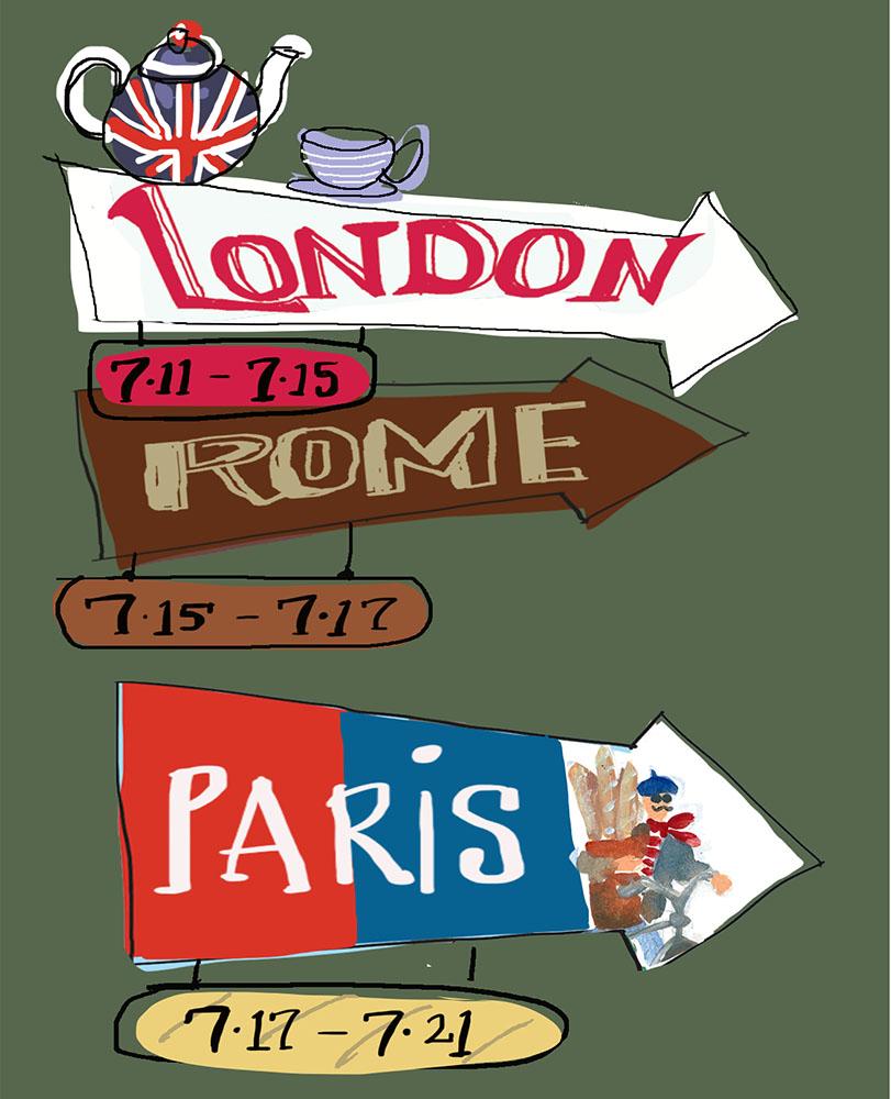 London Rome Paris Pietro Place Peter Jones