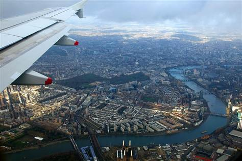 Flying over London Pietro Place Peter Jones